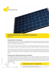 Centrosolar - Model B-Series 285 - Monocrystalline Modules Datasheet