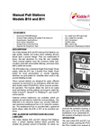 Kidde - B-10 and B-11 - Manual Pull Stations Brochure