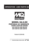 Model GA25H - Portable Generators Brochure