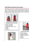 HEPA Filtered Vacuums & Accessories Brochure