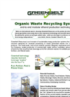 Organic Waste Recycling System Brochure