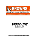 Viscount - Model MK5 - Moledrainer / Subsoiler- Brochure