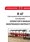 Model R47 and RW47 - Medium, Reversible Mounted Ploughs Datasheet