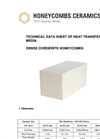 Honeycombs Ceramics - Dense Cordierite Honeycombs Technical Datasheet
