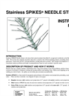 Stainless Spikes - Needle Strips - Instruction Manual