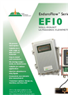 Model EnduroFlow Series EF10 - Wall-Mount Ultrasonic Flowmeter Brochure