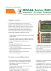 Model REGAL RH20 - Handheld Ultrasonic Flowmeter - Datasheet