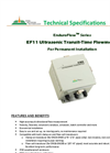 EnduroFlow Series - Model EF11 - Ultrasonic Transit-Time Flowmeter - Datasheet