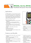 Regal Series RH40- Handheld Ultrasonic Flow & BTU Meter Datasheet