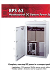 Model BPS 63 - Weatherproof DC Battery Power System - Datasheet