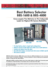 Model BBS-1600 & BBS-4800 - Best Battery Selector (BBS) - Datasheet