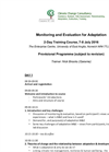 Monitoring and Evaluation for Adaptation Courses - Brochure