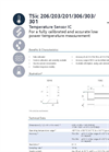 IST AG 206/203/201 TSIC Sensors - Data Sheet
