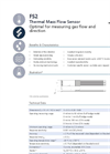 IST AG FS2 Flow Sensors for Gas Flow - Data Sheet