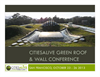Citiesalive Green Roof & Wall Conference Presentation