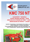 Carlotti - KMC 750 NT - Single-row Potato Digger - Brochure