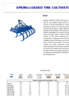 Model CM-P - Spring Loaded Tine Tiller Cultivator Brochure