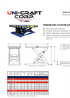 Uni-Craft - Pneumatic Scissor Lift Tables Brochure