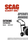 Extreme - Model LBX - High-Velocity Leaf and Debris Blower Manual