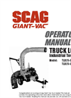 Scag Giant Vac - Model TLB - Industrial Tow Behind Truck Loaders Brochure