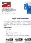 DJE - SSS Series - Single Shaft Shredders - Brochure