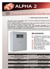 ALPHA - Model 2 - 2 Zones Fire Detection Conventional Panel- Brochure