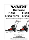 Brush Cutter with Mulching Blade F-550 - Brochure