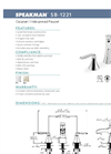 Caspian - Model SB-1221 - Widespread Faucet- Brochure