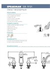 Chelsea - Model SB-1721 - Widespread Faucet- Brochure