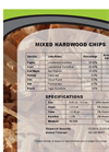 Wood Chips - Mixed Hardwood Chips Specifications Sheet