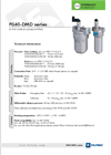 Model F040-DMD series - In Line Medium Pressure Filters Brochure