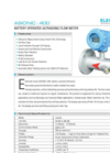 Battery Operated Ultrasonic Flow Meter : ASIONIC 400