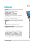 Guided Wave Radar Level Transmitter : ELGWR-40