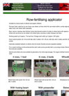 BASRIJS - Row-fertilising Applicator - Brochure