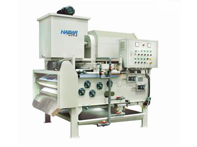 Haibar - Model HTA - Economical Type Belt Filter Press Combined Rotary Drum Thickener