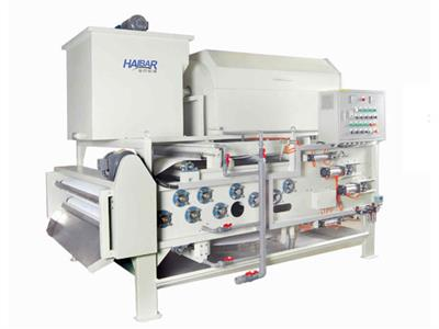 Haibar - Model HTB - Standard Type Belt Filter Press Combined Rotary Drum Thickener