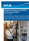 Equipment Testing to the MCERTS Performance Standard