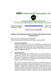 GWS Environmental Contractors Inc. Steam Project Description
