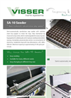 Visser Horti Roulette - Model SA-10 - Semi Automatically Stand Alone Step Seeder Machine Specifications Brochure