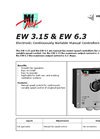 Model EW - Electronic Continuously Variable Manual Controllers Brochure