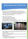 Warehousing & Container Services Brochure