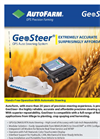 GeoSteer - - High Precision Auto-Steering Solution Brochure