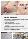 Slotted Flooring for Pigs Grid for sows in cage - Brochure