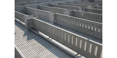 Concrete Partitions & Stainless Steel Throughs