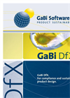 GaBi DfX - For Compliance and Sustainable  Product Design - Brochure