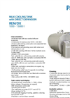 Model REM/DX 1050 - 15000 - Milk Cooling Tank Brochure