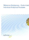 Reference Substances – Customized for Individual Analytical Processes Brochure