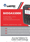 Landtec - Model BIOGAS 5000 - Portable Biogas Analyzer System - Brochure