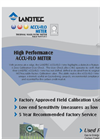 Landtec - Model ACCU-FLO - Thermal Mass Flow Meter - Brochure