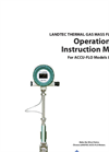 Landtec - Model ACCU-FLO - Thermal Gas Mass Flow Meter - Operation and Installation Manual